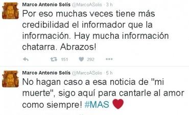 Marco Antonio Solis desmintió vía twitter falsa noticia de su Muerte que circulo hace unas horas