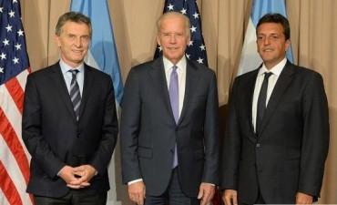 Mauricio Macri, mantuvo un encuentro con el vicepresidente de Estados Unidos, Joe Biden
