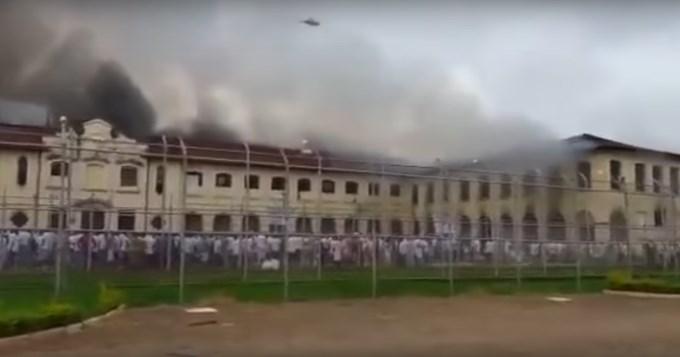 Brasil: 200 presos incendiaron  prisión y escaparon