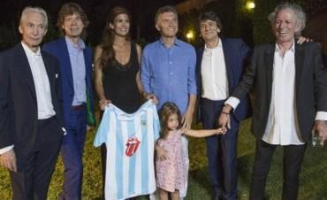 Macri comió un asado con los Rolling Stones