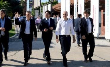 Macri visitó la ex ESMA para participar de una reunión de gabinete del ministerio de Justicia