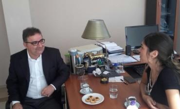 La coordinadora NOA del Ministerio del Interior, Agustina Walther, se reunió con autoridades Catamarqueñas