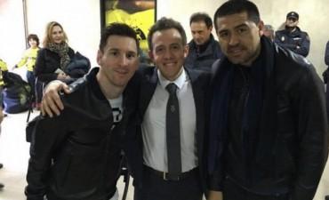 Mucha magia en una misma foto: Messi y Riquelme juntos