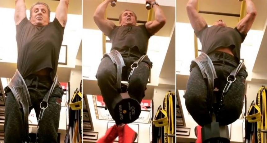 Cómo es el increíble entrenamiento de Sylvester Stallone a los 71 años