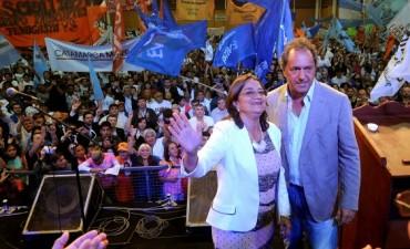 Corpacci y Scioli participaron de un acto en el Predio Ferial