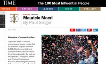 Macri, entre las 100 personas más influyentes del mundo, según Time