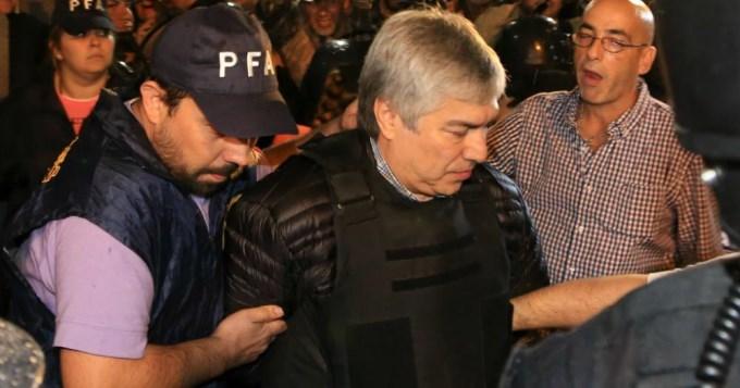 Lázaro Báez volvió a prisión y quedó internado en Ezeiza