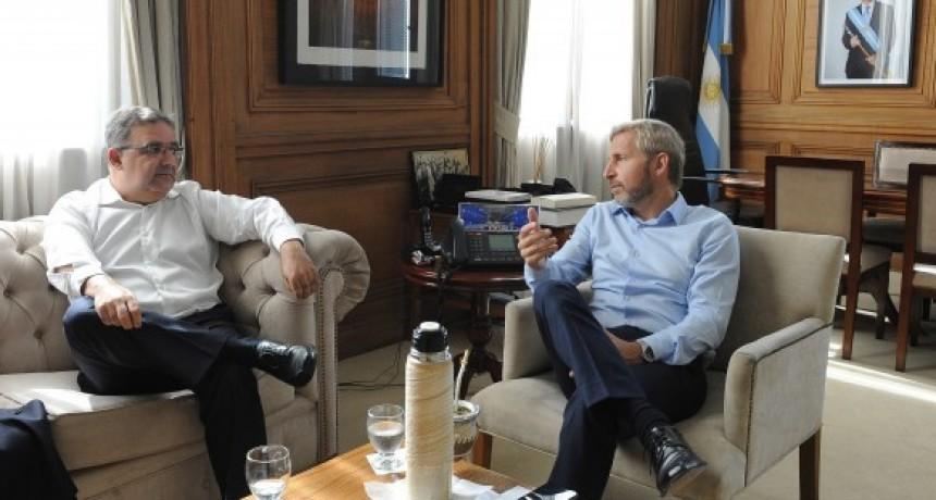 Frigerio recibió a Raúl Jali y hablaron sobre obras realizadas con Fondos Nacionales