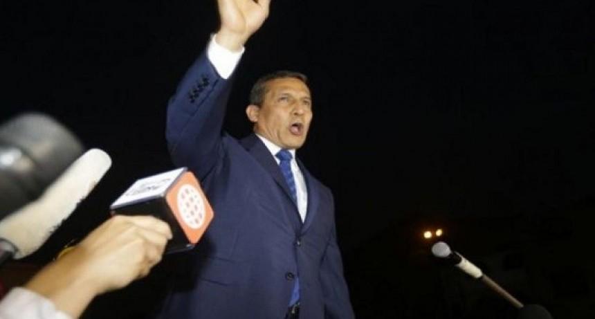 El ex presidente de Perú Ollanta Humala y su esposa  Nadine en Libertad