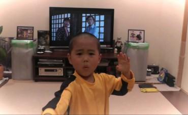 Mini Bruce Lee revoluciona las redes sociales