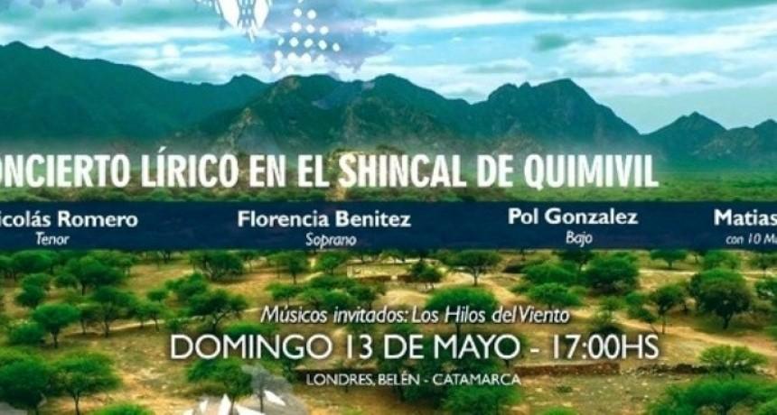 Este domingo es el Gran Concierto Lírico en El Shincal