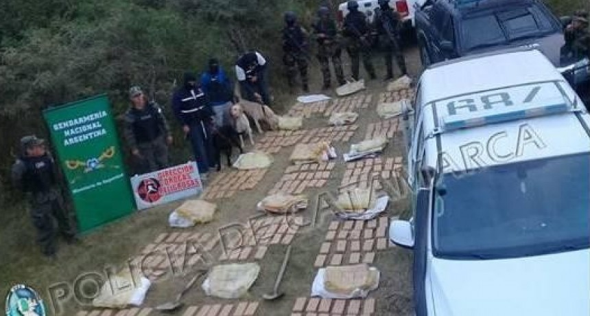 Policía de la Provincia y Gendarmería Nacional dieron un duro golpe al narcotráfico