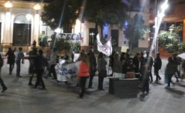 Docentes de ATECA protestaron Frente a Casa de Gobierno