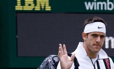 Buen triunfo de Del Potro en su debut en Wimbledon