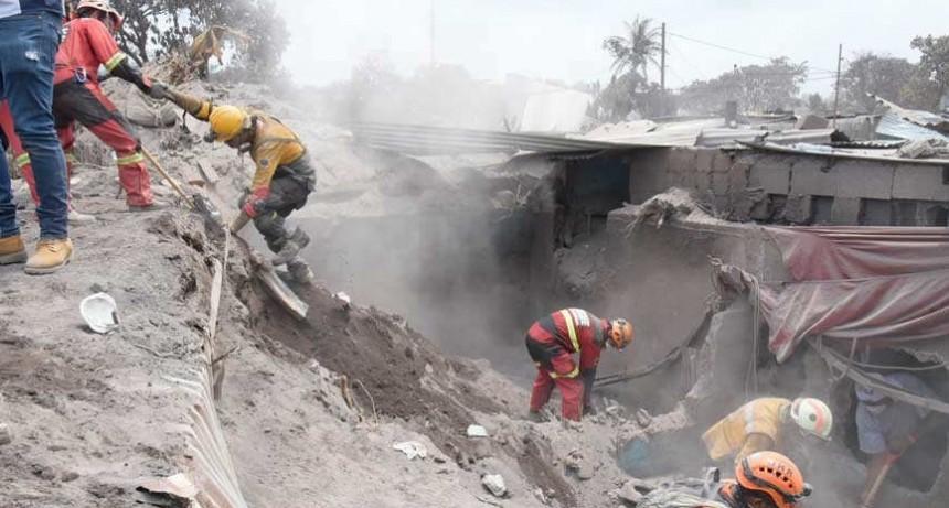 Guatemala dio por terminada la búsqueda de desaparecidos por el volcán de Fuego