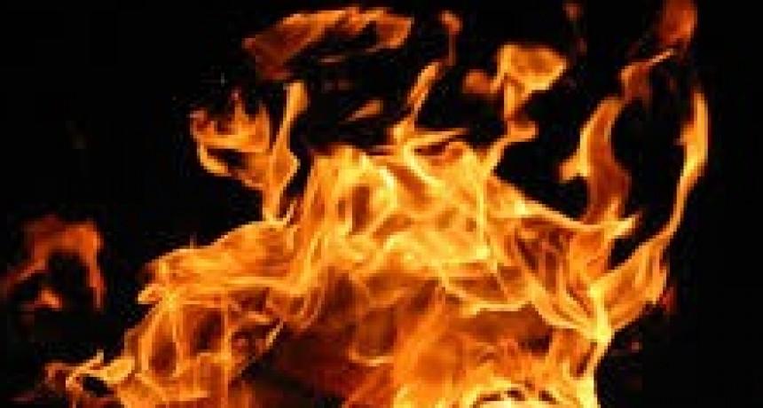 Murió calcinado al incendiarse su vivienda
