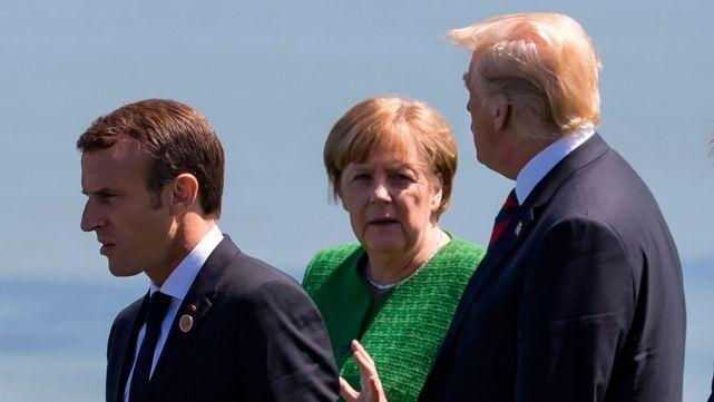 Francia y Alemania criticaron a Trump y lo tildaron de