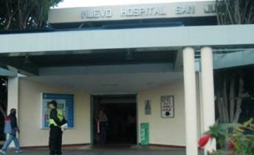 Motociclista baleado fue internado en el Hospital S.J.Bautista