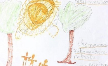 Pedrito murió sin poder darle su dibujo al Papa Francisco
