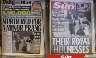 Revuelo en Gran Bretaña por una foto de la Reina con el saludo nazi
