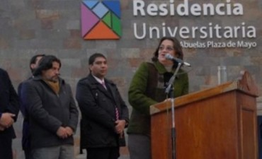 Lucía inauguró ayer la Residencia Universitaria Abuelas de Plaza de Mayo