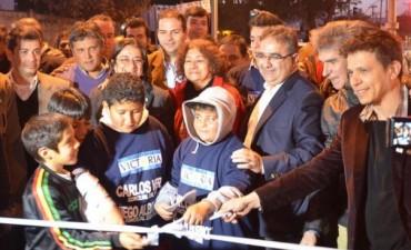 Corpacci y Jalil inauguraron la avenida Latzina
