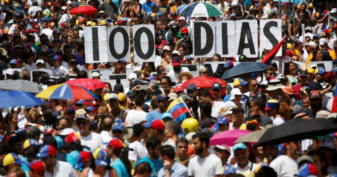 Cien días de caos en Venezuela: 91 muertos, ninguna solución