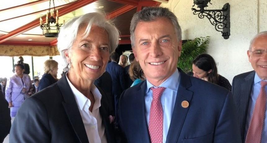 Macri recibe a la jefa del FMI en Olivos