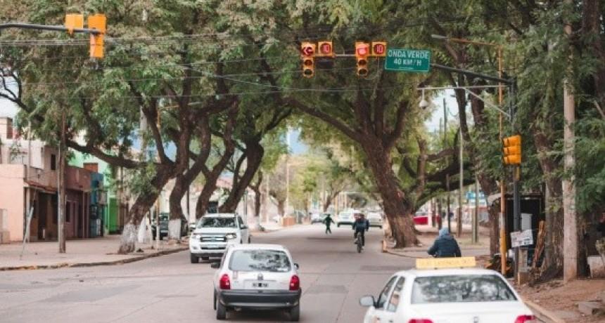 Onda verde en avenida Ocampo