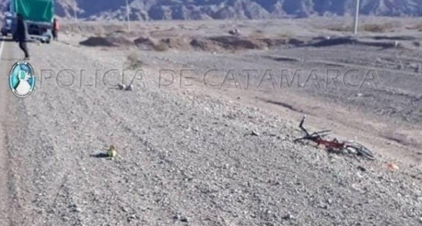 Fiambalá: camión arrolló a un ciclista