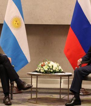 Fútbol e inversiones, la charla de Macri y Putin en Sudáfrica