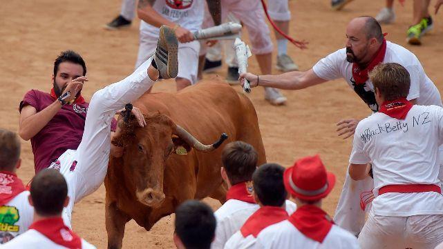 Los heridos que dejó el primer día del festival de San Fermín