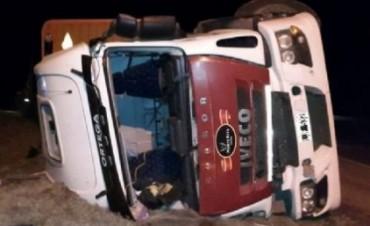 Volcó un camión que trasladaba vacas en la ruta nacional Nº 64