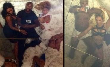 Mayweather se mostró en la cama con cuatro mujeres y su novia le respondió