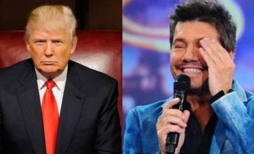 Tinelli le respondió con una ironía a Donald Trump