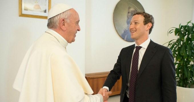 Francisco recibió a Mark Zuckerberg en el Vaticano