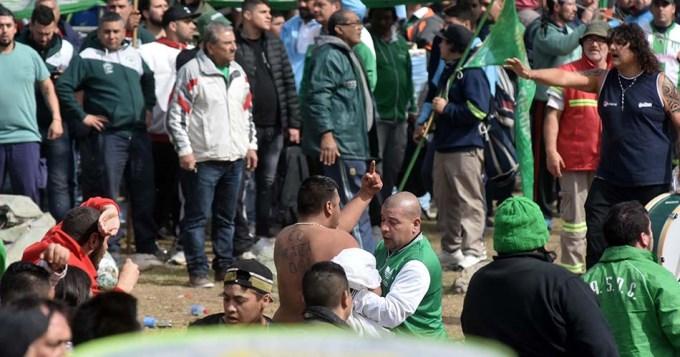 Incidentes en Plaza de Mayo durante la marcha de la CGT