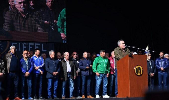 Internas y divisiones, reinas en la marcha de la CGT