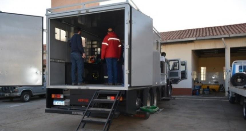 Nación envió a Catamarca Moderno CAMIÓN-TALLER MÓVIL para recuperar equipos viales