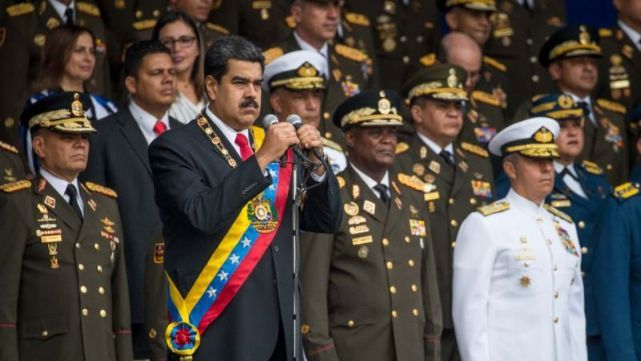 Captan el momento de la explosión del dron en el atentado contra Maduro