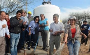 Lucía puso en marcha un pozo de agua en las Ánimas