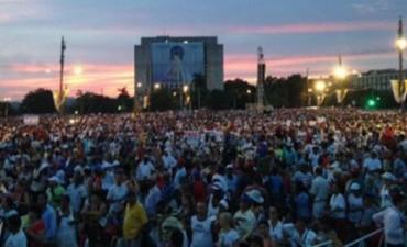 Hoy el papa Francisco dará una misa multitudinaria en la Plaza de la Revolución