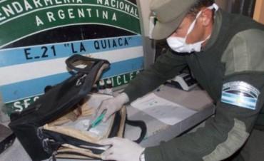 Lo detuvieron en La Quiaca cuando intentaba ingresar al país con ocho kilos de cocaína