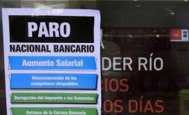 Habrá paro bancario en todo el país hoy y mañana