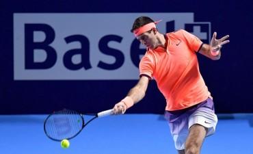 Del Potro le ganó a Goffin y pasó a cuartos de final en el ATP de Basilea