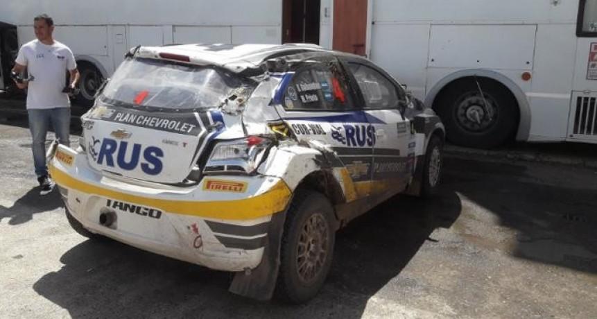 Nalbandian volcó con su auto en el Rally de Entre Ríos