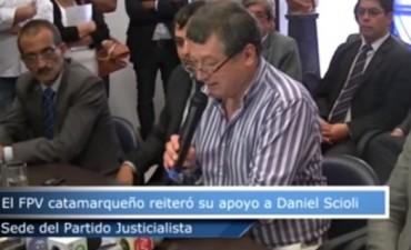 El FPV reiteró su apoyo a Scioli en la sede del Partido Justicialista