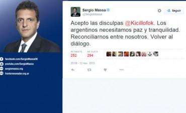 Kicillof le pidio disculpas por Twitter a Massa después de tratarlo de forro mentiroso