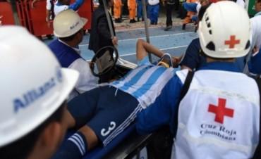 Gabriel Mercado salió lesionado y terminó internado