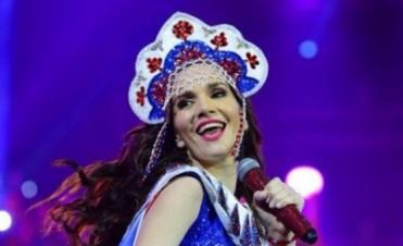 Natalia Oreiro volvió a cautivar en Rusia a 25 mil fanáticos